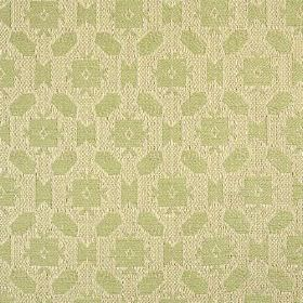 Lowell - Celadon - A small, simple, repeated geometric design patterning 100% cotton fabric in stone and very pale green