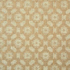 Lowell - Taupe Silver - 100% cotton fabric woven in coffee and light silvery grey colours, featuring a small, simple, repeated geometric pat
