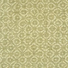 Albemarle - Green - Rayon, cotton and linen blend fabric woven with a small, repeated pattern in cream and light green-grey