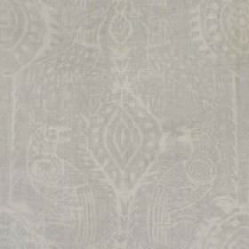 Beasties - Grey - Fabric made from 100% linen, featuring bird designs and pretty patterns in two very similar, subtle shades of grey
