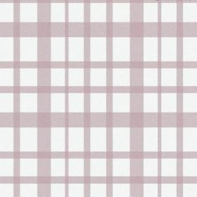 The Check - Blush - Bleached linen with a simple checked pattern in white and light pink-purple