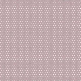 The Dot - Blush - White dots with a pinkish tinge arranged in rows over bleached linen fabric in a light purple-pink colour