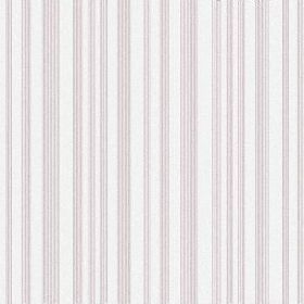 The Stripe - Blush - A repeated stripe pattern in white and light pink-purple on fabric made from bleached linen