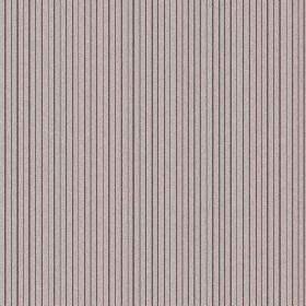 The Pinstripe - Berry Red - Natural linen fabric featuring alternate light pink and grey stripes, separated by slate coloured vertical pinst