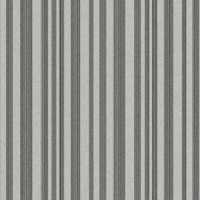 The Stripe - Night - Battleship grey and light grey making up a simple, repeated stripe pattern on fabric made from natural linen