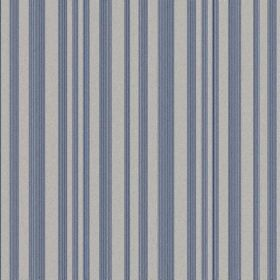 The Stripe - Liberty - Air Force blue and dove grey striped natural linen fabric