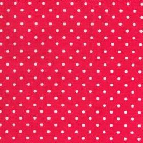 Mini Dot - Red - Cotton fabric with red background with white dots