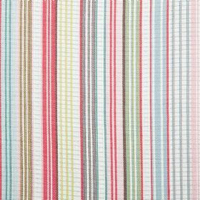 Safari Check Cotton - Multi - Cotton fabric with multi-coloured stripes