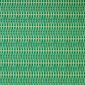 Cotton Duck Wicker - Green - 100% cotton fabric printed with a woven wicker effect design in various bright, vivid shades of green