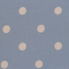 Spot - Blue - Blue cotton fabric with white spots