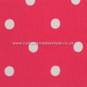 Spot - Red - Red cotton fabric with white spots