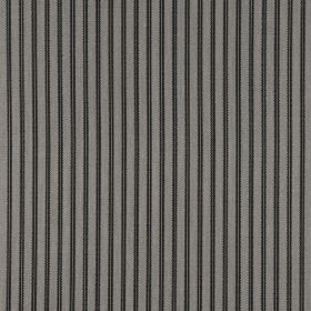 Milson Ticking - Charcoal - Pairs of thin black vertical lines printed at regular intervals over battleship grey coloured 100% linen fabric