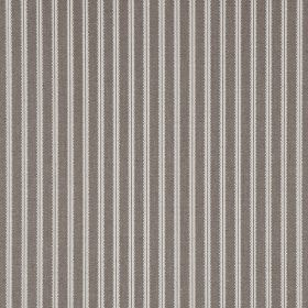 Milson Ticking - Ivory - Striped 100% linen fabric with a simple, evenly spaced design of pairs of vertical lines in grey and white