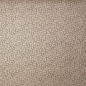 Posh Dot - Slate & Hurricane Grey - Miniscule white flowers completely covering a dark grey 100% linen fabric background