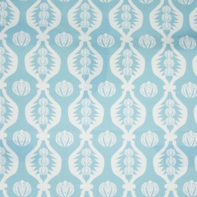 Georgie Girl - Blue - White, pale blue and baby blue coloured wavy lines and patterned circles printed on fabric made from 100% cotton