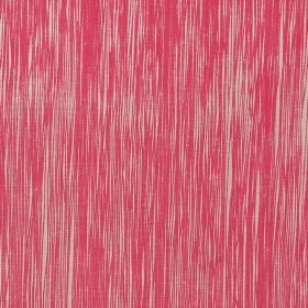 Downey - Hot Pink - Hot pink and cream coloured 100% flocked linen fabric featuring a vertical streaked pattern