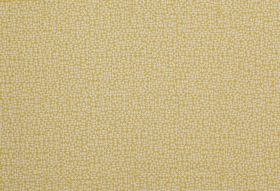E - Lemon - Gold and cream coloured 100% linen fabric covered with a design of miniscule triangles