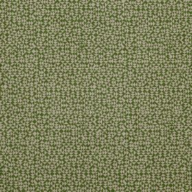 E - Green - Two different shades of green making up a miniscule triangle print pattern on fabric made entirely from linen