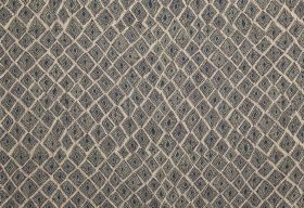 Africana - Bamboo - Several different shades of grey in a pattern of uneven square-diamond shapes with dotted centres on 100% linen fabric