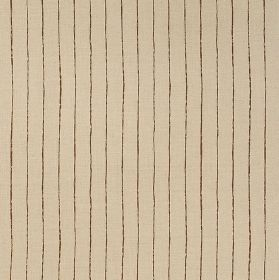 Broken Stripe - Brown - Latte coloured 100% linen fabric striped with dark brown vertical lines