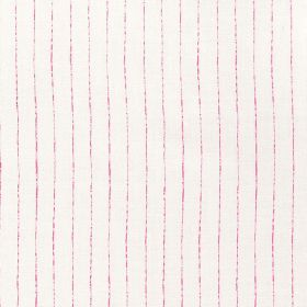Broken Stripe - Hot Pink - Fabric made from vertically striped 100% linen in white and pink
