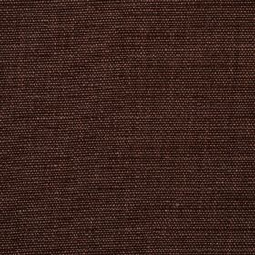 Range - Brown - Fabric made from 100% linen in an indulgent, very dark shade of cocoa brown