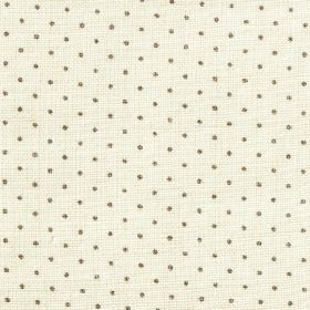 The Littletons - Flint - Milk white coloured 100% linen fabric, featuring a small polka dot pattern in dark grey