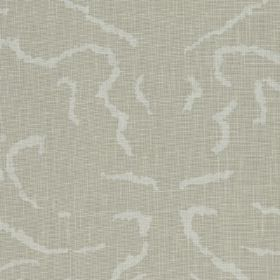 Florence - 02 - Fabric made from 100% linen in two light shades of grey, with an elegant, abstract pattern made up of thin, short lines