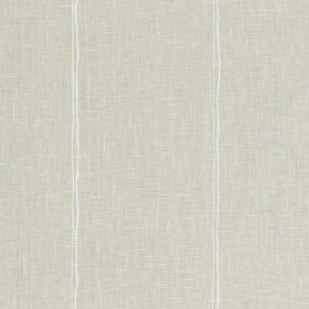 Milan - 02 - Light grey fabric woven from 100% linen, patterned with pairs of thin, uneven, vertical white lines
