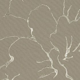Rome - 03 - Steel grey 100% cotton fabric patterned with a large, elegant design made up of thin, lustrous silver-white lines