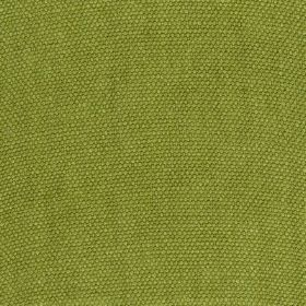 Lupina - Green - 100% linen fabric made in a plain, fresh apple green colour