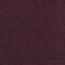Lupina - Purple Aubergine - Dark aubergine coloured 100% linen fabric