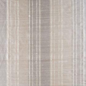 Bath Stripe - Champagne - Thin and thick striped silk fabric in grey and neutral