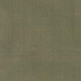 Mulberry Dupion - Old Gold - Plain green silk fabric