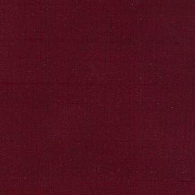 Mulberry Dupion - Red - Plain dark red silk fabric