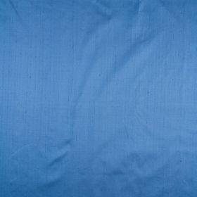 Mulberry Dupion - Blue - Plain blue silk fabric
