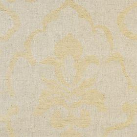 Como - Stone - Neutral linen fabric with faint classical outline in beige