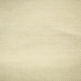 Pluto - Ivory Cream - Linen fabric woven in a plain shade of creamy vanilla