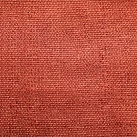 Pluto - Red - Fabric made from linen which has been woven with terracotta coloured threads