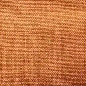 Pluto - Orange - Burnt orange coloured linen fabric with no other colours or patterns