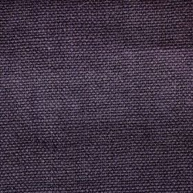 Pluto - Purple - Woven linen fabric in a solid shade of dark purple