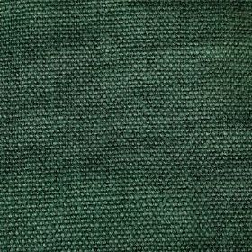 Pluto - Green - Linen fabric which has been made from thick threads in an emerald green colour