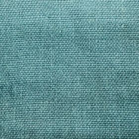 Pluto - Blue - Woven linen fabric in an aqua blue colour