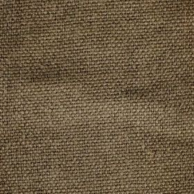 Pluto - Taupe Brown - Threads in a green-beige shade which have been woven together into a linen fabric