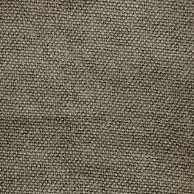 Pluto - Taupe Brown - Grey-green linen threads woven into a fabric