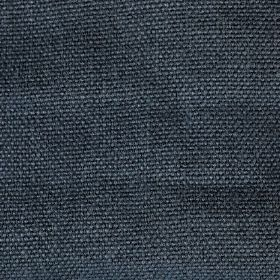 Pluto - Blue - Dark, dusky blue coloured woven linen fabric