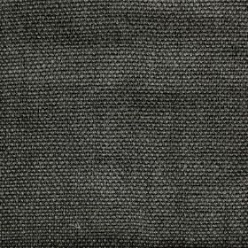 Pluto - Grey - Dark grey coloured woven linen fabric