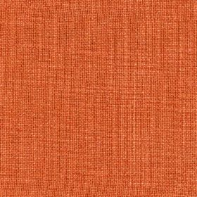 Provence - Orange - Linen, cotton and viscose blend fabric made in bright orange-pink, featuring a few subtle, slightly paler threads