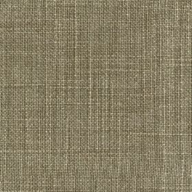 Provence - Olive Green - Fabric woven from a blend of linen, cotton and viscose using threads in dark grey and white colours