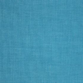 Reims - Blue - Bright blue coloured plain cotton fabric